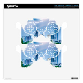 charlotte north carollina city skyline PS3 controller decal