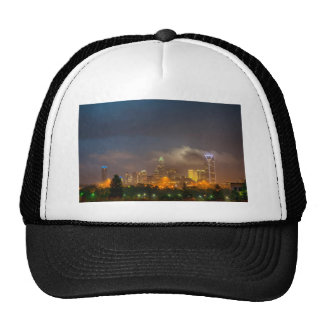 charlotte north carollina city skyline trucker hat