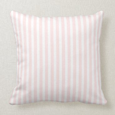 USA Themed Charlotte Pink and White Custom Jessica Throw Pillow