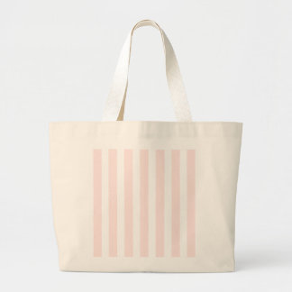 Charlotte Pink and White Stripes Baby Pink Jumbo Tote Bag