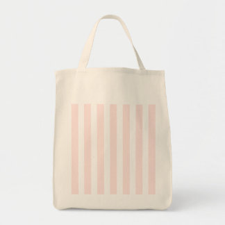 Charlotte Pink and White Stripes Baby Pink Grocery Tote Bag
