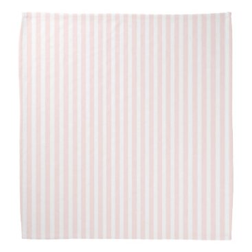 Beach Themed Charlotte Pink and White Stripes Baby Pink Bandana