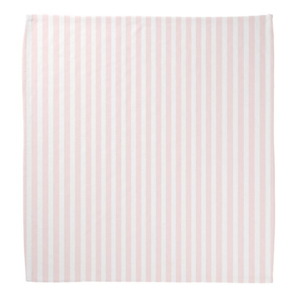 Charlotte Pink and White Stripes Baby Pink Bandana
