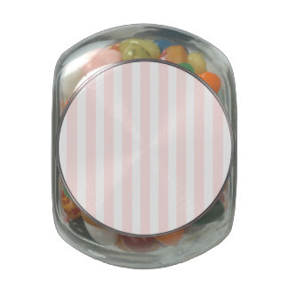 Charlotte Pink and White Stripes Baby Pink Glass Jars