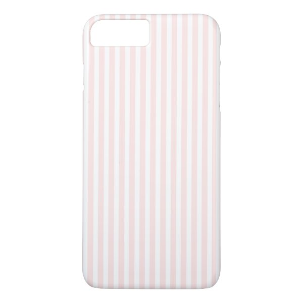 Charlotte Pink and White Stripes Baby Pink iPhone 7 Plus Case