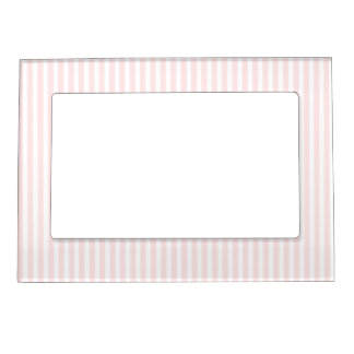 Charlotte Pink and White Stripes Baby Pink Picture Frame Magnets