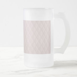 Charlotte Pink-Baby Princess Pink-Diamond Quilted Frosted Glass Beer Mug