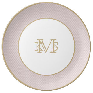 Charlotte Pink-Baby Princess Pink-Diamond Quilted Plate