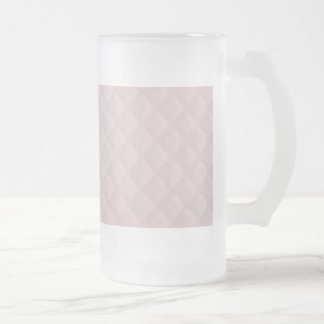 Charlotte Pink-Baby Princess Pink-Square Quilted Frosted Glass Beer Mug