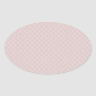 Charlotte Pink-Baby Princess Pink-Square Quilted Oval Sticker