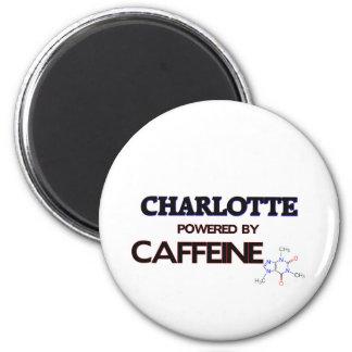 Charlotte powered by caffeine 2 inch round magnet