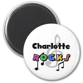 Charlotte Rocks 2 Inch Round Magnet