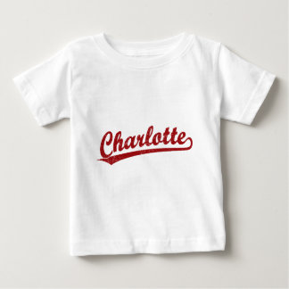 Charlotte script logo in red baby T-Shirt