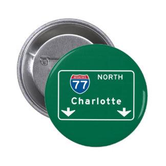 Charlotte, señal de tráfico del NC Pin