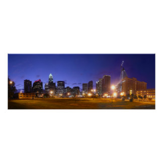 Charlotte Skyline Dawn - full @ 49.5x18.5 Poster