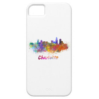 Charlotte skyline in watercolor iPhone SE/5/5s case