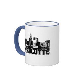 Charlotte Skyline Coffee Mugs