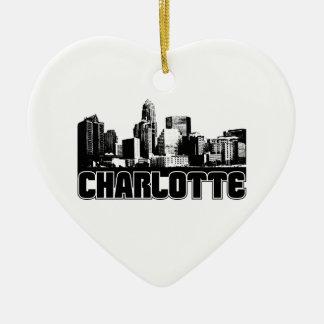 Charlotte Skyline Christmas Ornaments
