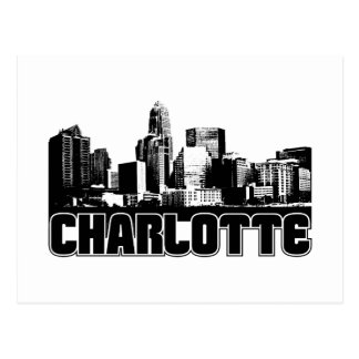 Charlotte Skyline Postcard