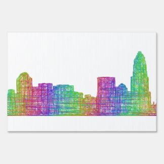 Charlotte skyline sign