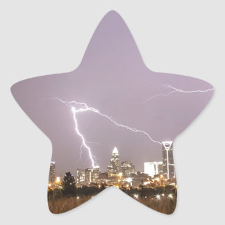 Charlotte skyline star sticker