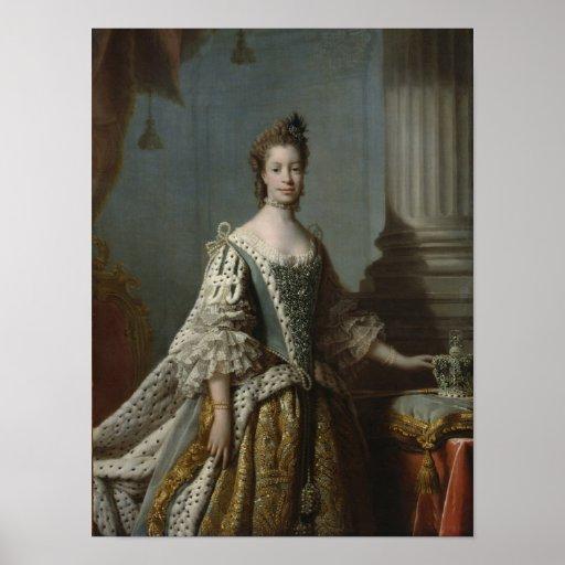 Charlotte Sophia of Mecklenburg-Strelitz, 1762 Poster