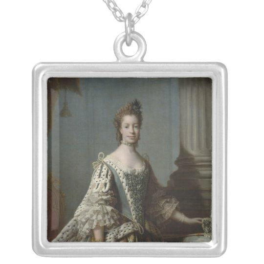 Charlotte Sophia of Mecklenburg-Strelitz, 1762 Silver Plated Necklace
