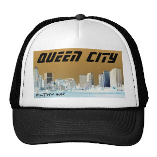 Charlotte stretch, Queen City, Filthy Ink Trucker Hat