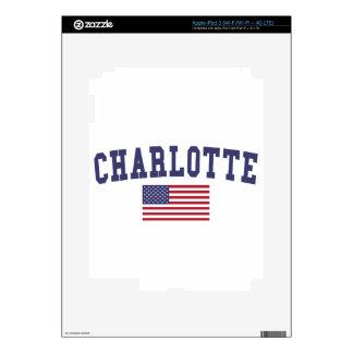 Charlotte US Flag iPad 3 Decal