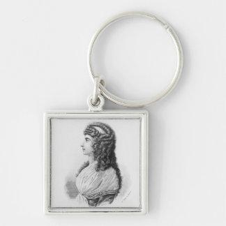 Charlotte von Stein, born von Schardt, late Silver-Colored Square Keychain