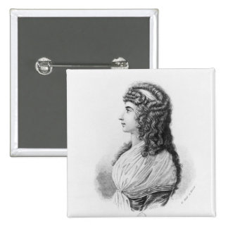 Charlotte von Stein, von llevado Schardt, tarde Pin Cuadrada 5 Cm