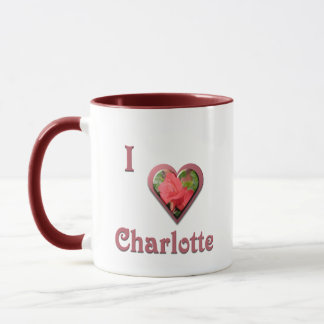 Charlotte -- with Red Rose Mug