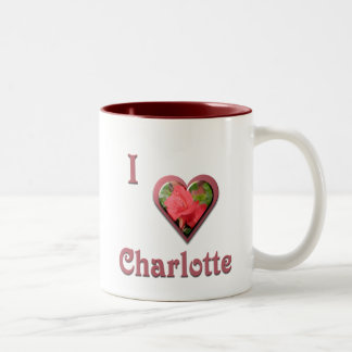 Charlotte -- with Red Rose Two-Tone Coffee Mug