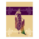 Charlotte's Shawl: 1920s Fashion in Gold and Plum Postcards