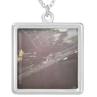 charlotte's web silver plated necklace