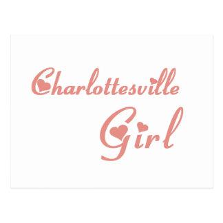 Charlottesville Girl tee shirts Post Card