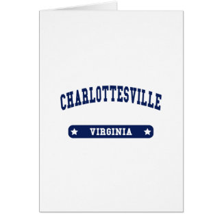Charlottesville Virginia College Style tee shirts Cards