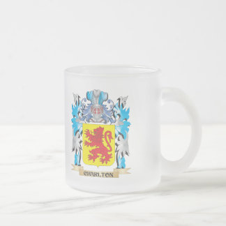 Charlton Coat of Arms - Family Crest 10 Oz Frosted Glass Coffee Mug