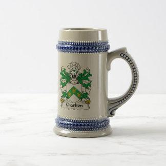 Charlton Family Crest 18 Oz Beer Stein