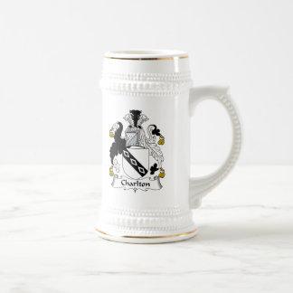 Charlton Family Crest Beer Stein
