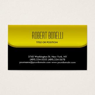 Charm Black Yellow Pattern Standard Business Card