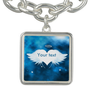 Charm Bracelet With Charm - Angel of the Heart