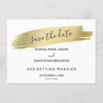 Charm Calligraphy Gold Stroke Save The Date