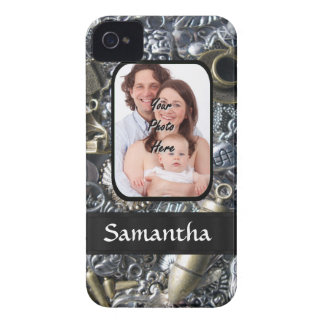 Charm collage photo template iPhone 4 Case-Mate cases