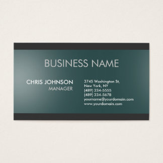 Charm Dark Slate Grey Plain Modern Business Card
