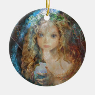 Charm - Fairy Angel with Fairy Dust Blessings Ceramic Ornament