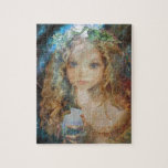 """Charm - Fairy Angel with Fairy Dust Blessings Jigsaw Puzzle<br><div class=""""desc"""">Charm is a fairy carrying a bag of &quot;fairy dust&quot;  and looking for a worthy person to bless. Created By - Amelian Angels and sold exclusively through AmelianAngels.com,  all rights reserved.</div>"""