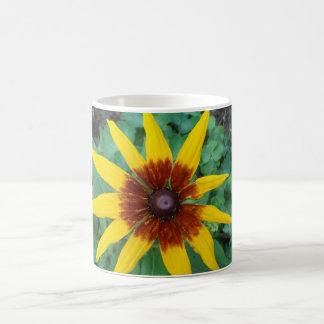 Charm Flower Classic White Coffee Mug
