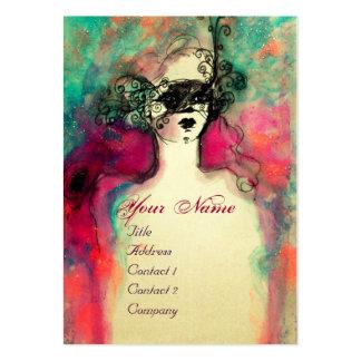 CHARM MONOGRAM / Elegant Venetian Masquerade Mask Large Business Cards (Pack Of 100)