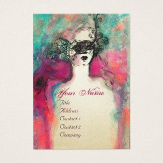 CHARM MONOGRAM / Elegant Venetian Masquerade Mask Business Card